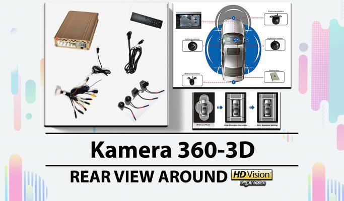 Kamera 360-3D Rear View Around